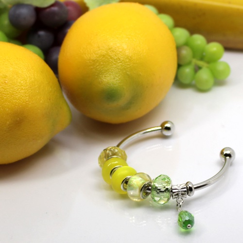 レモンのガラスビーズ