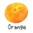 ビーズ オレンジ